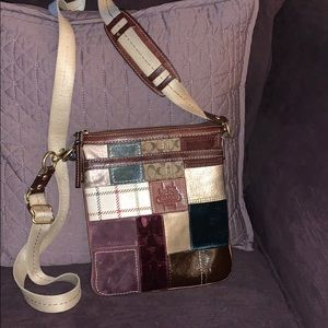 Coach Multicolor Patchwork Swingpack